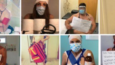Photo of ألمانيا : أطباء وطبيبات ينشرون صورهم عراة للفت النظر لمعاناتهم بسبب كورونا