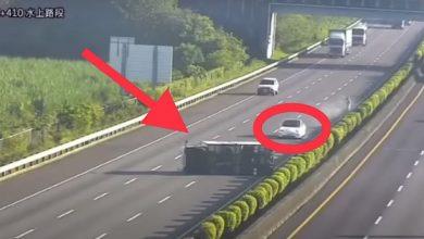 Photo of فيديو : اصطدام بشاحنة على الطريق السريع بسبب نظام القيادة الذاتية لسيارة تيسلا الذي لم يكتشف الحادث