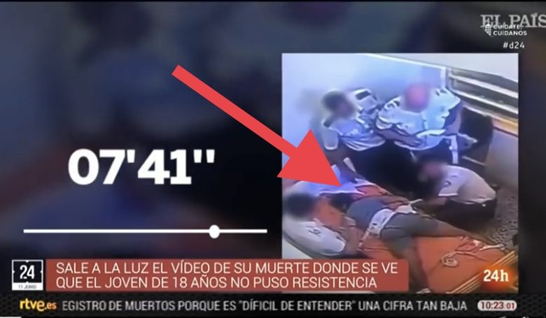 بالفيديو: حراس الأمن بإسبانيا يقتلون شاب مغربي بشكل فظيع